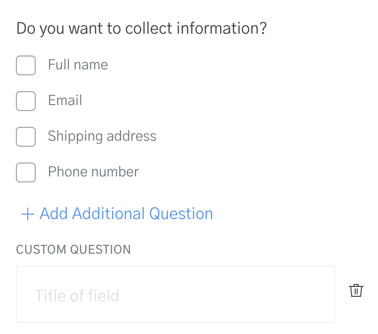 Add new questions or custom fields to your templates