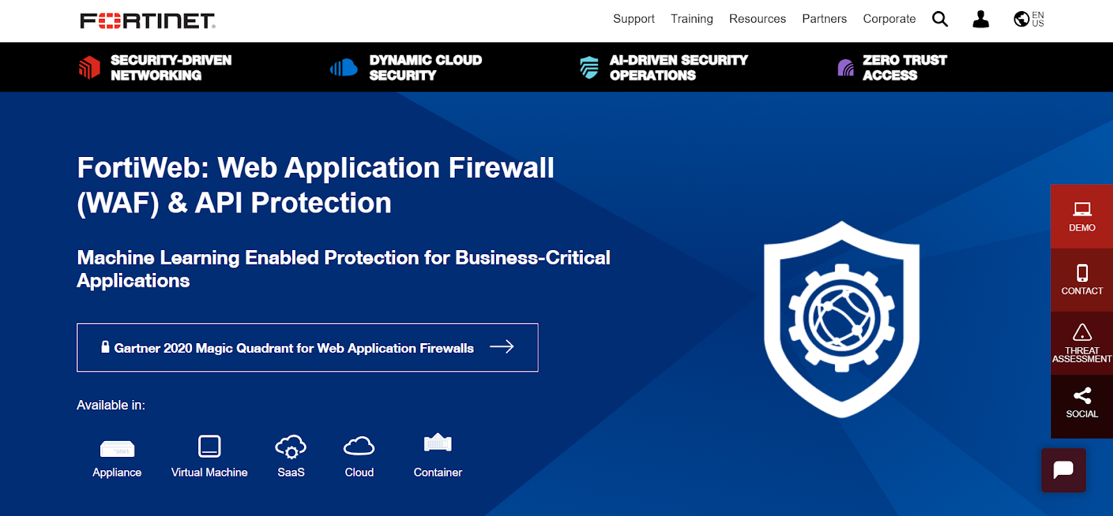 Fortinet Fortiweb is a Web Application Firewall Application