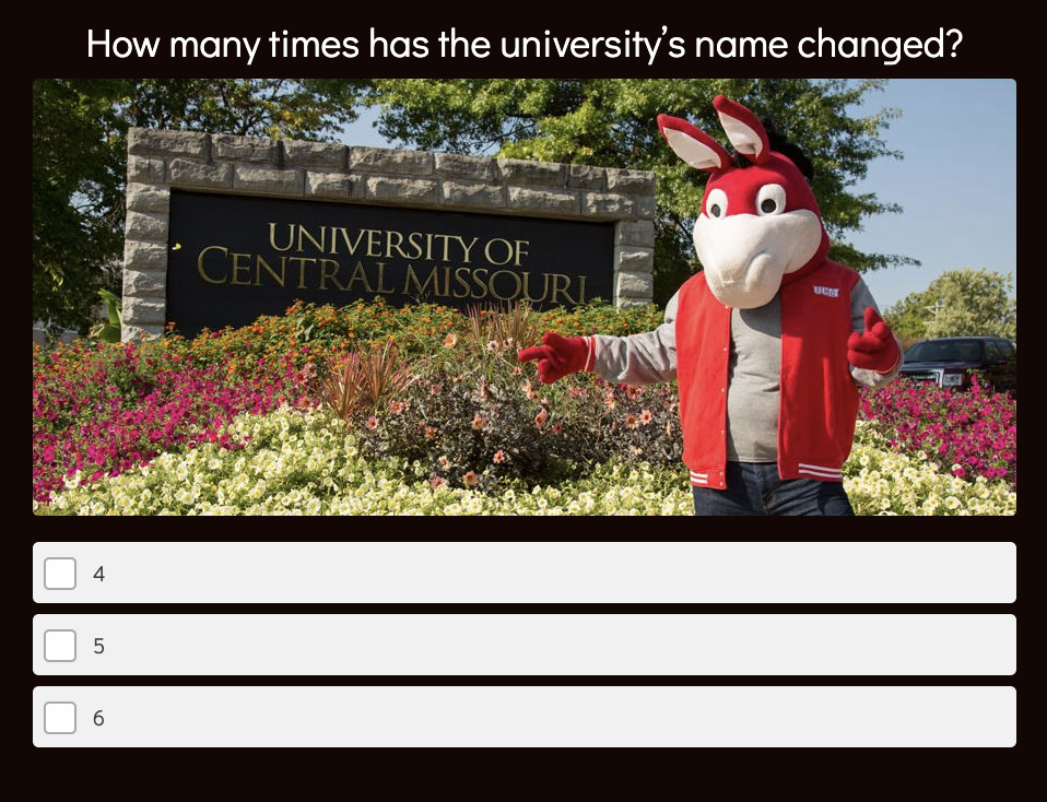 university trivia question about name