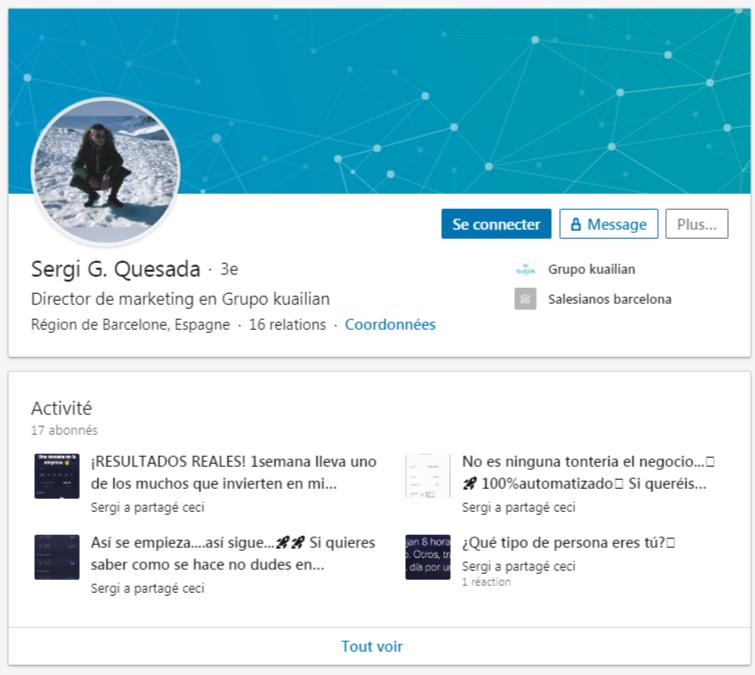 Linkedin de Sergi G. Quesada