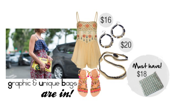 This year's summer  fashion trend featuring fair trade jewelry and accessories from Fair Anita.