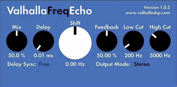 free echo audio plugin valhalla freq echo