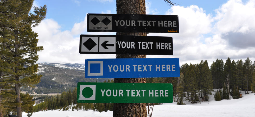 What Do The Symbols On Ski Trail Signs Mean Signs Of The Mountains