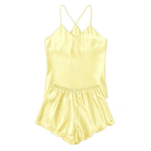 لباس خواب زنانه کد T-870 رنگ لیمویی