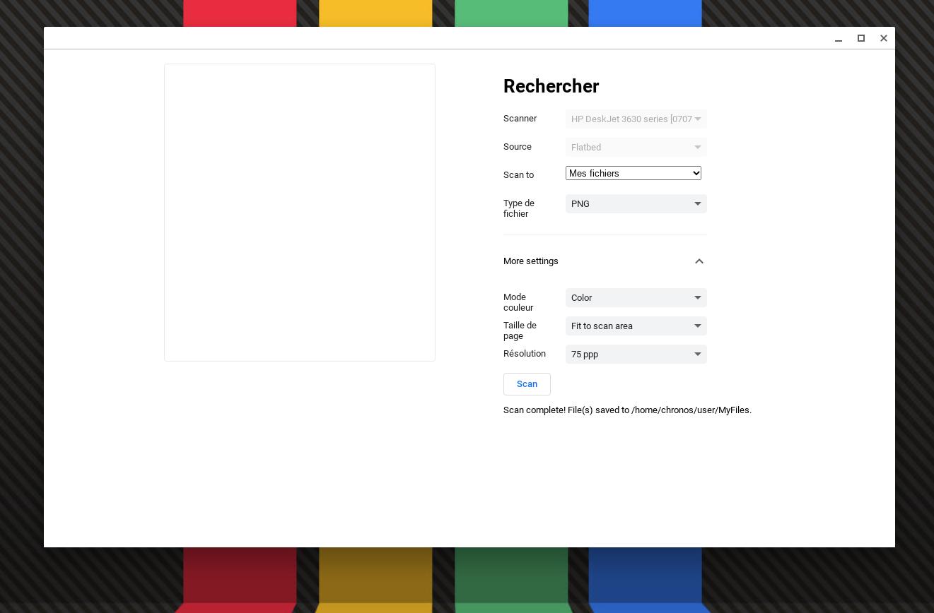 L'application scanner arrive sur Chrome OS