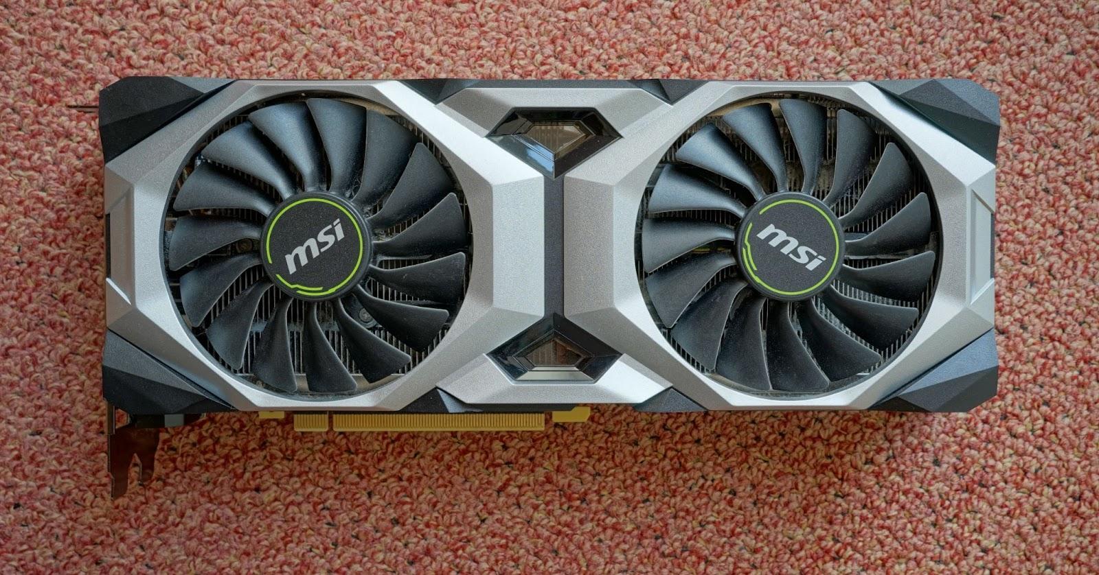MSI 2080 Ventus GPU