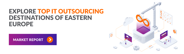 IT outsourcing in Eastern Europe: Ruby, Java, .NET, Python, Big Data, Cloud, and more