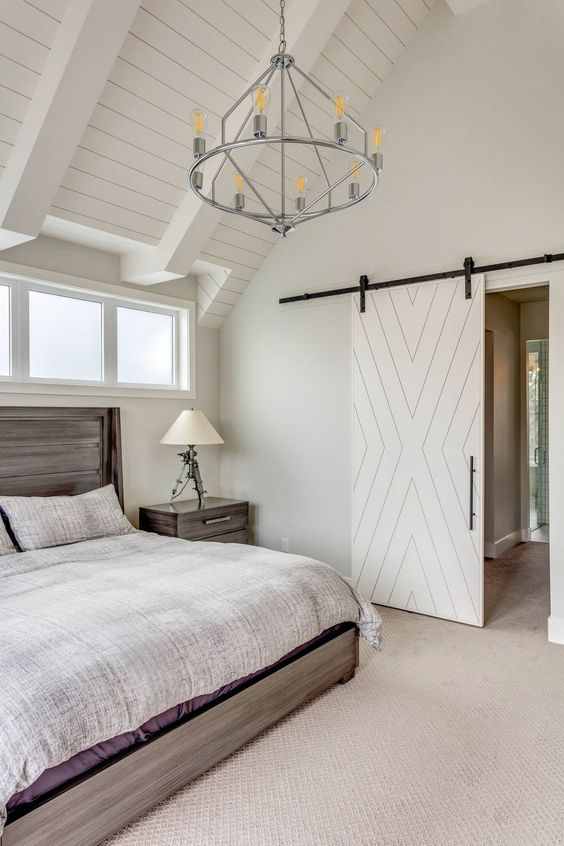 Mix White and Wood Furniture in Bedroom