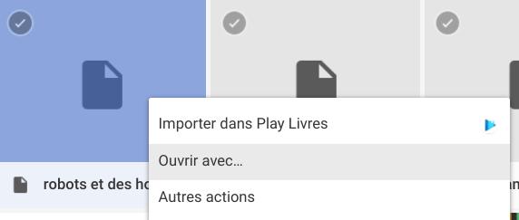 Importer dans Google Play Livres