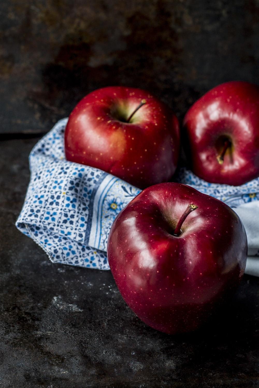 three red apples