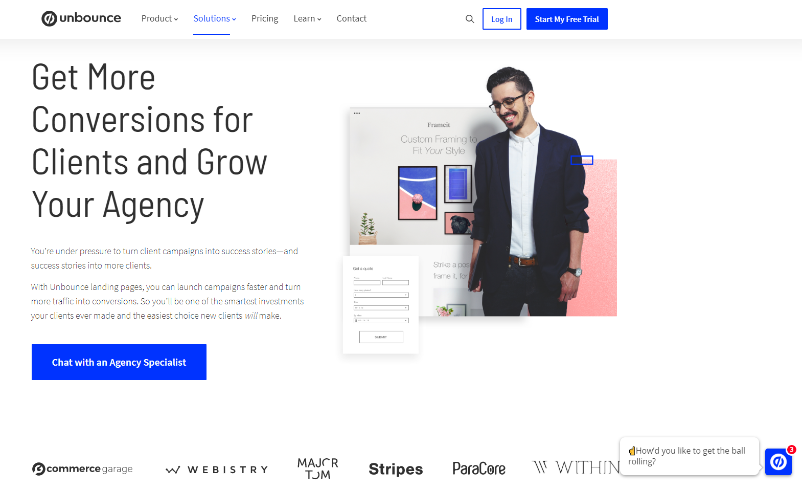 landing page builder for marketing agencies
