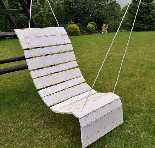Кресло-гамак из поддонов