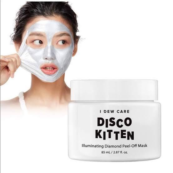 Best K-Beauty : I Dew Care Disco Kitten Illuminating Diamond Peel-Off Mask