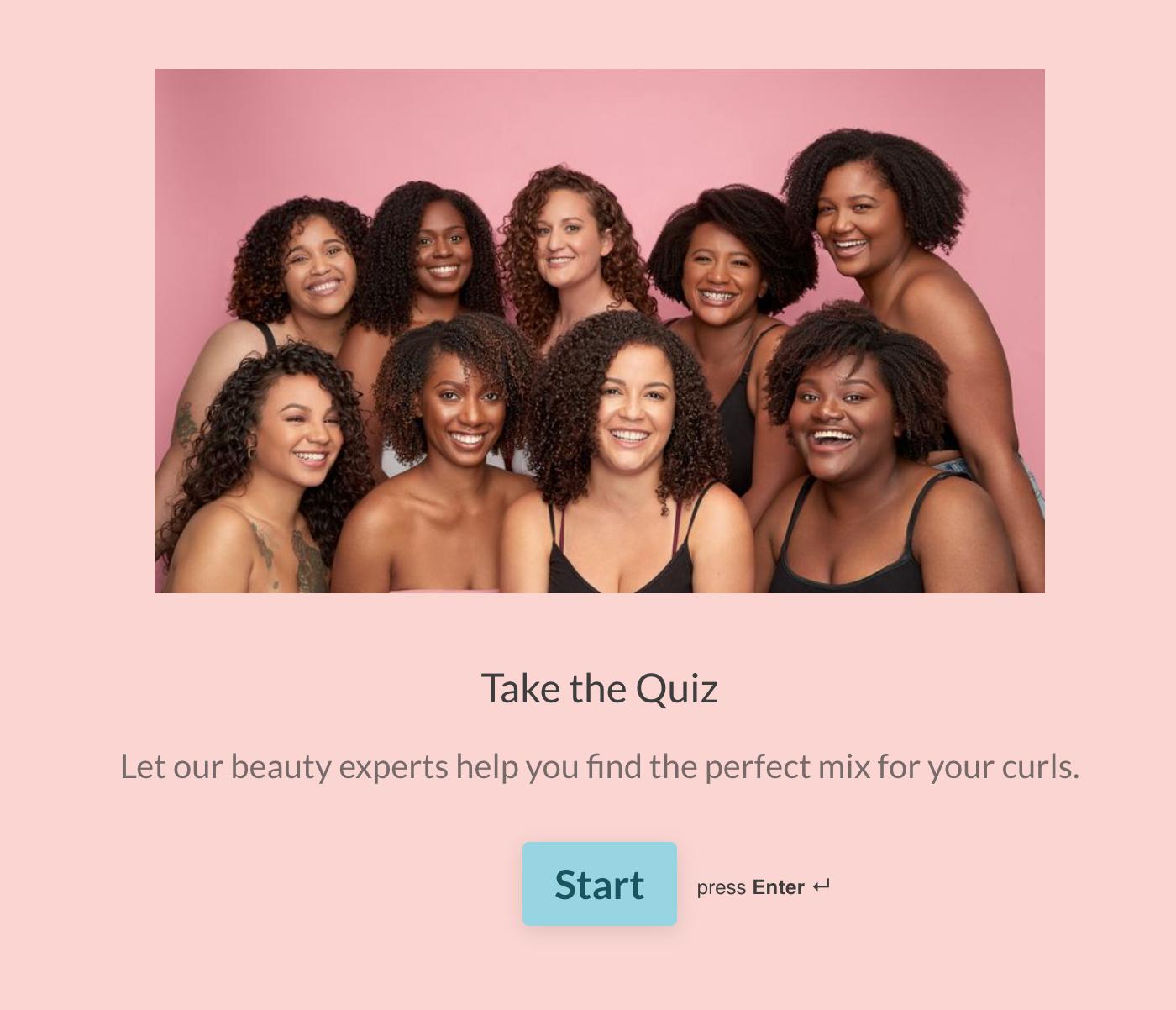 CurlMix Personalization Quiz