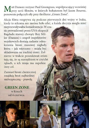 Tył ulotki filmu 'Green Zone'