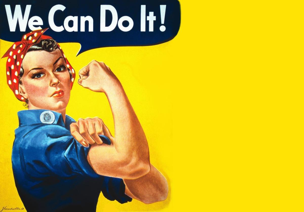 Image result for think Rosie the Riveter