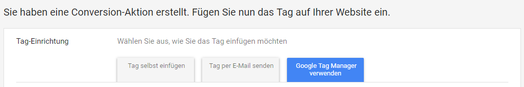 Google Ads Conversion Tracking mit GTM