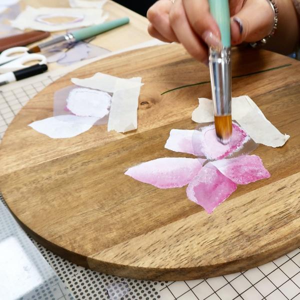 品品學堂-型染木托盤