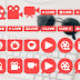 Social Live Stream Icons Set Free Download