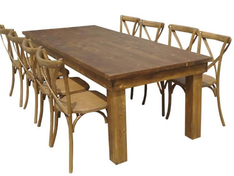 arm tables for 10 seats