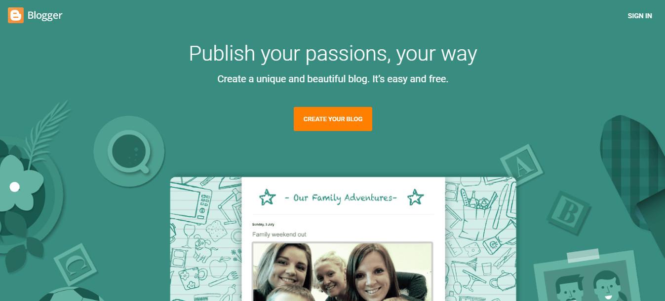 Blogger Best Free Blogging Platform