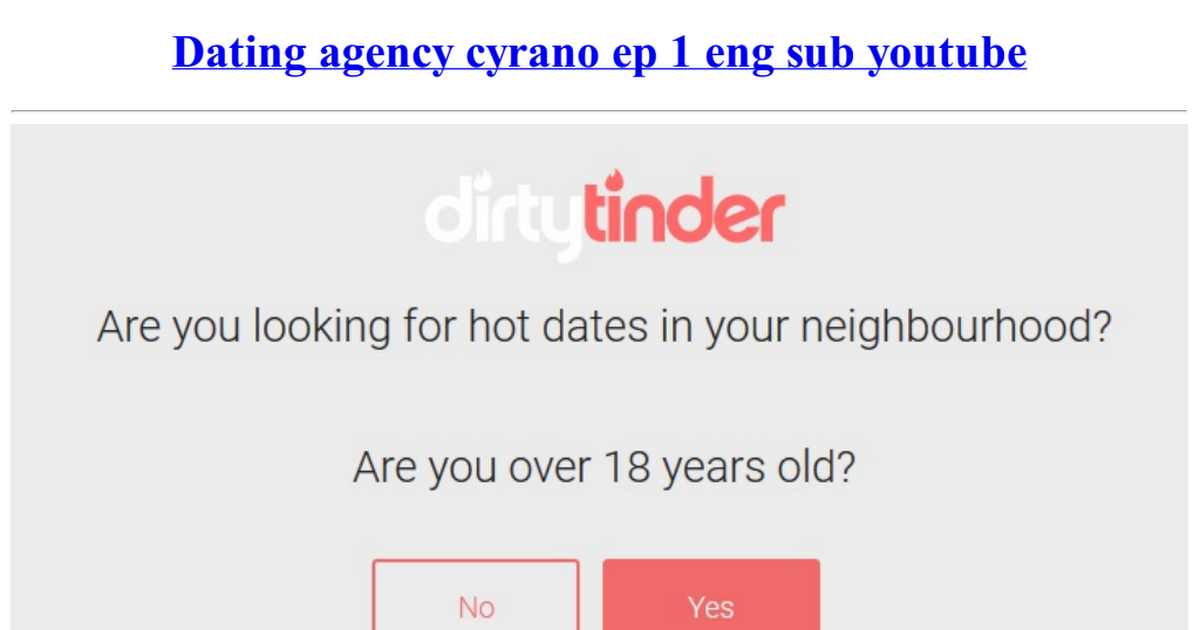 Dating-Agentur cyrano ep 1 eng subs