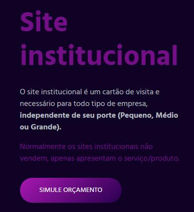 Botão de CTA no site da TECHD