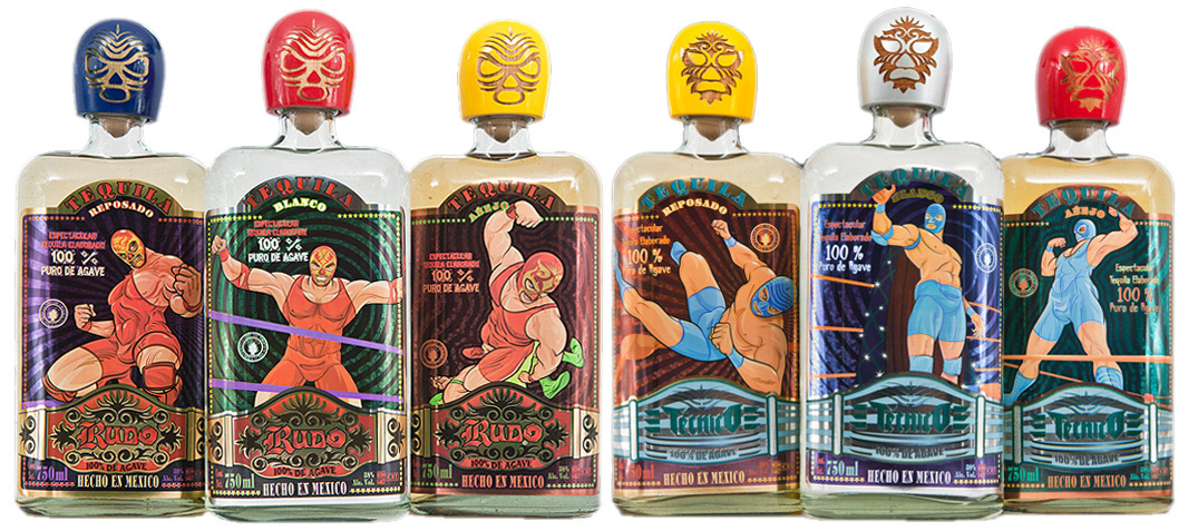 Redesign of Rudo and Tecnico Tequila Labels