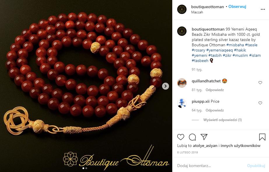 Marketing w branży jubilerskiej - IG Boutique Ottoman (screen)