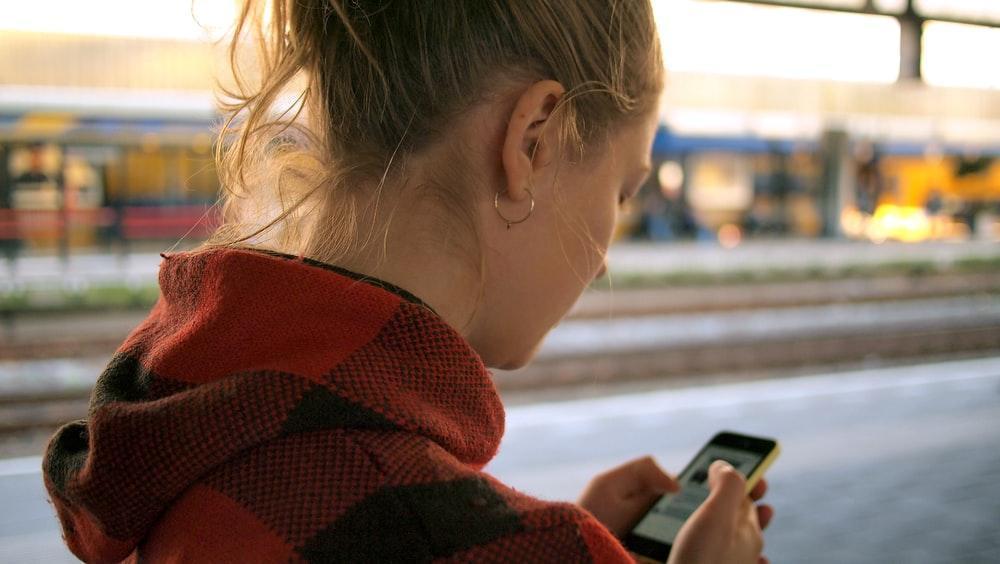 Image result for children with phone unsplash