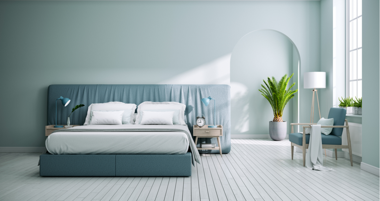 pale blue is the best color for bedrooms