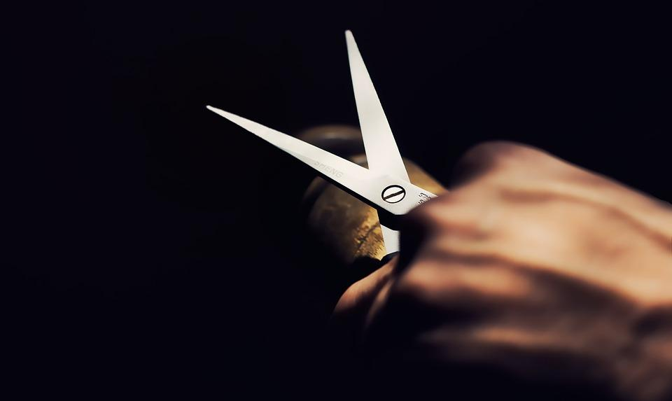 シザー, 手, ツール, 切断, 裁縫