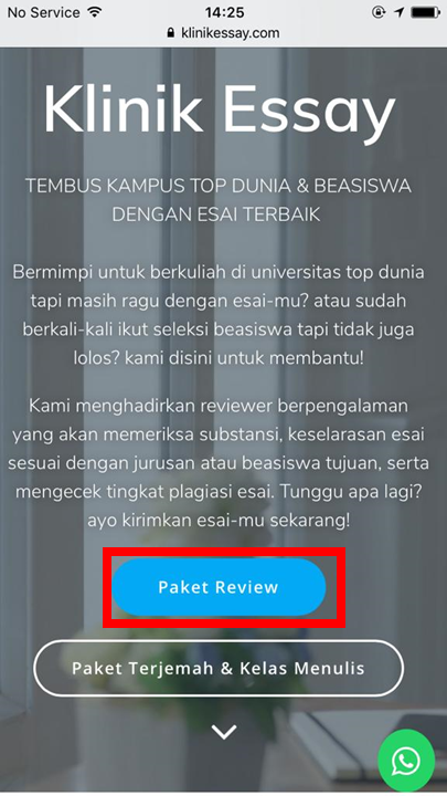 button paket review klinikessay.com versi mobile