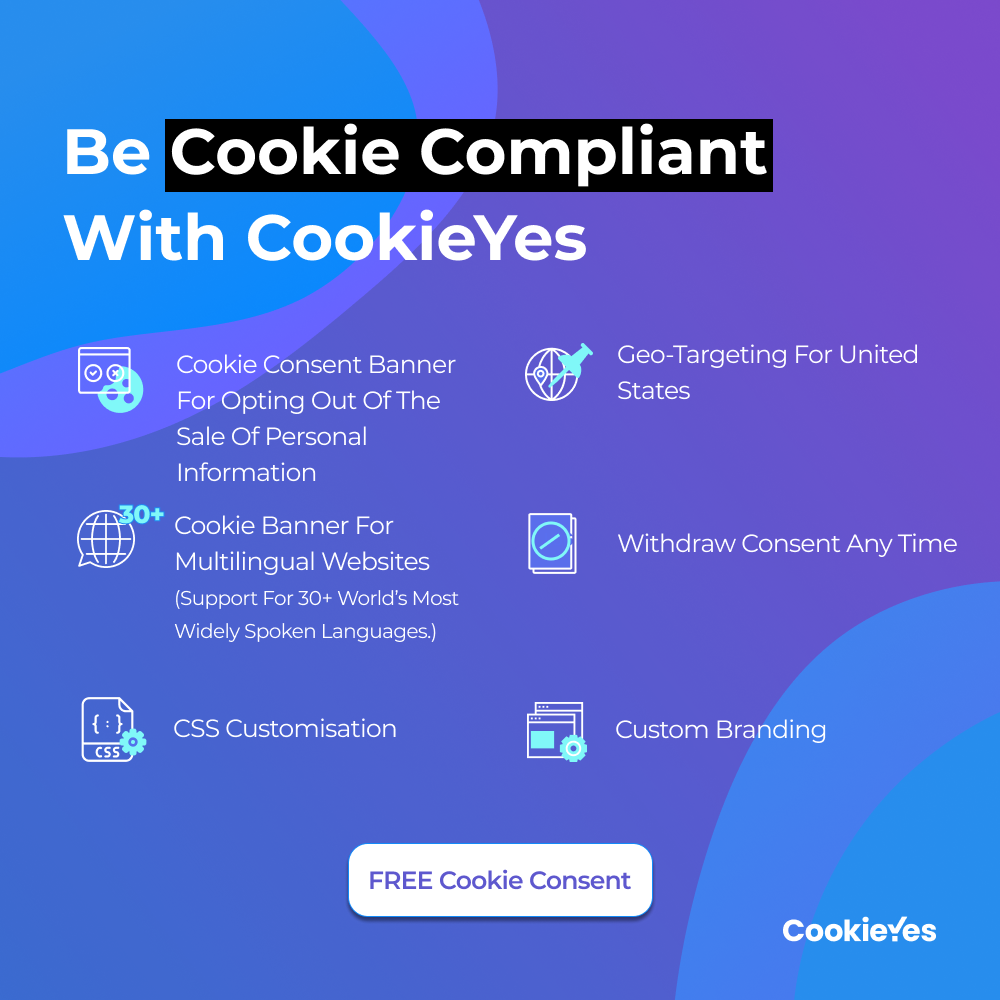 CookieYes features and CTA for Colorado Privacy Act