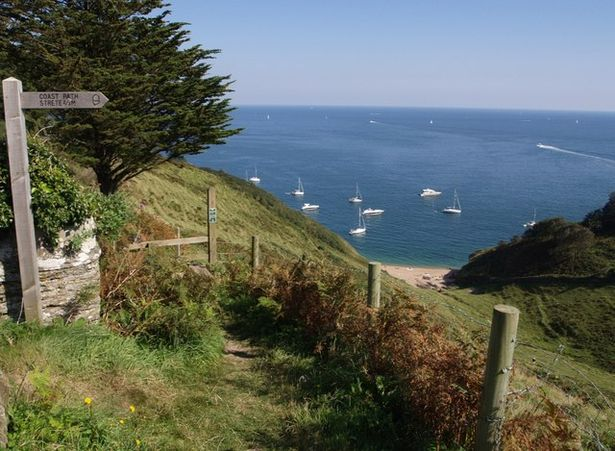 South West Coast Path above Landcombe Cove