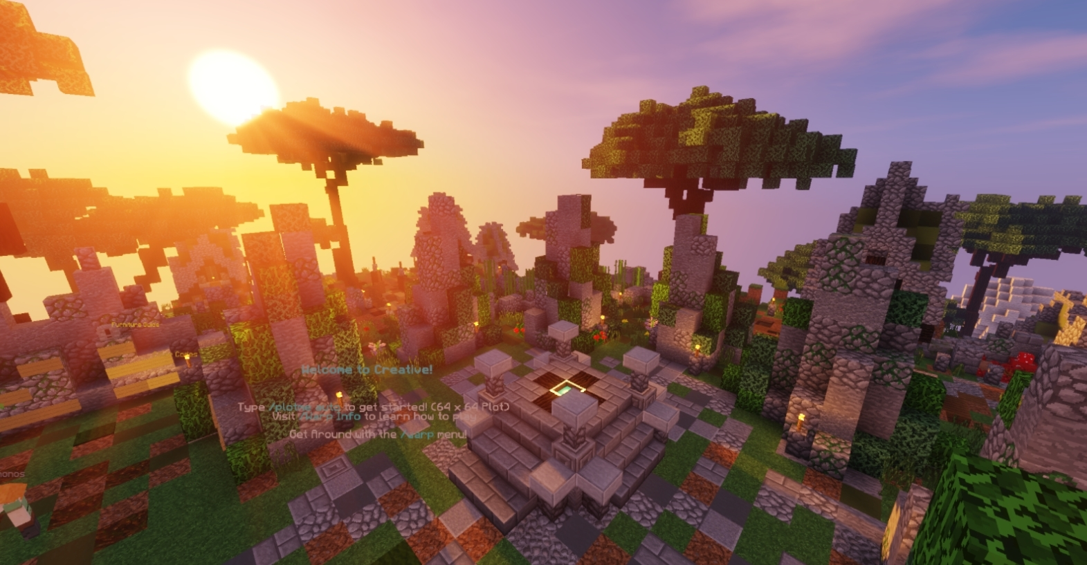 minecraft creative plots server