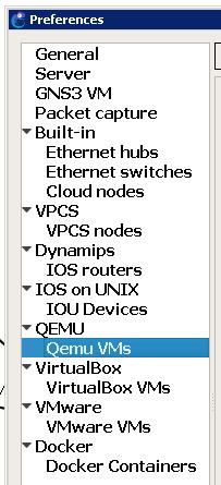 gns3 adding qemu images