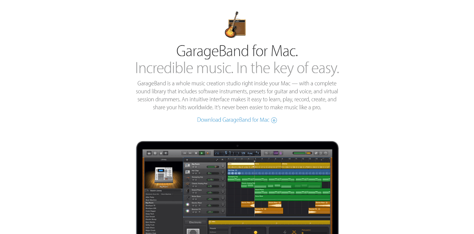 GarageBand for Mac Apple