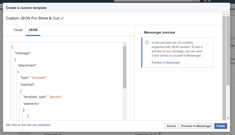 Facebook JSON Ad