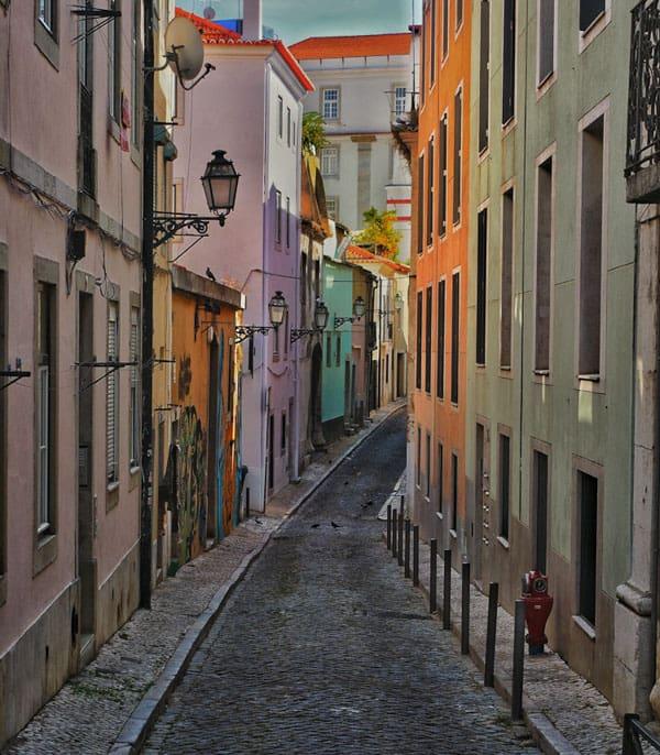 backstreet in Lisbon
