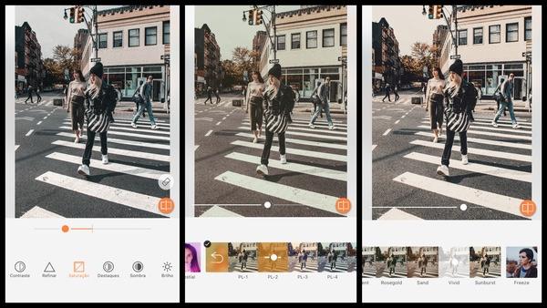 Tutorial de edição de uma foto de pessoas atravessando a rua usando as ferramentas do AirBrush