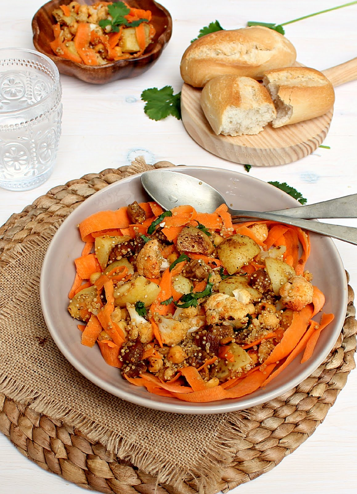 Moroccan Roasted Carrot And Chickpea Quinoa Salad Recipes — Dishmaps