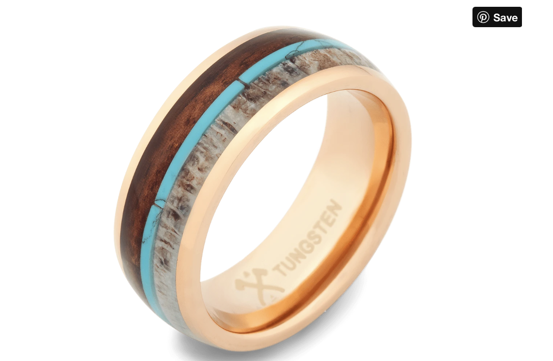 rose gold plated tungsten