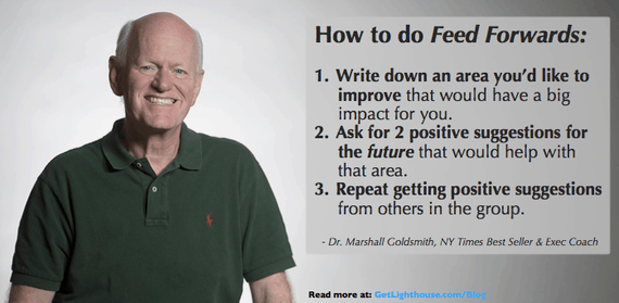 a feed forward is a very non judgmental way of receiving feedback