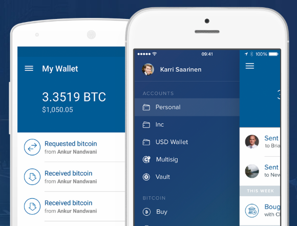 Coinbase cryptocurrency trading service