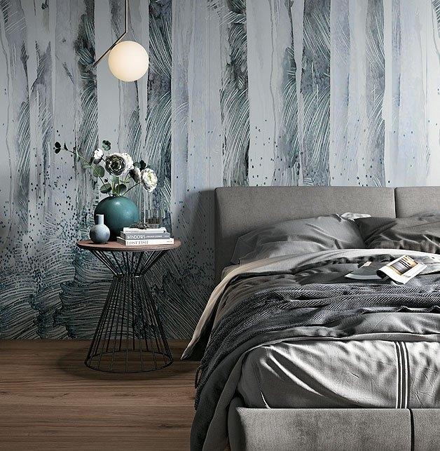 Gạch ốp tường ở phòng ngủ mang lại không gian sống thoải mái