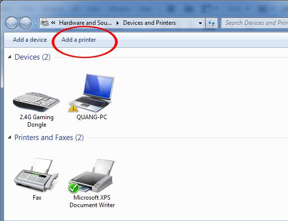 Hướng dẫn cách kết nối máy tính với máy in để in ấn3