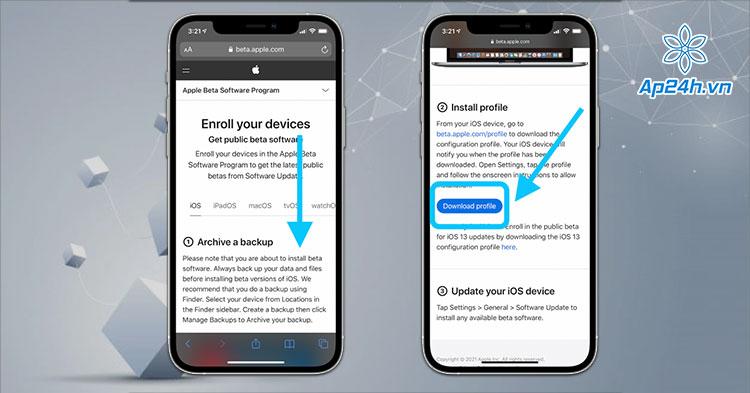 Cài đặt tài khoản người dùng thử nghiệm iOS