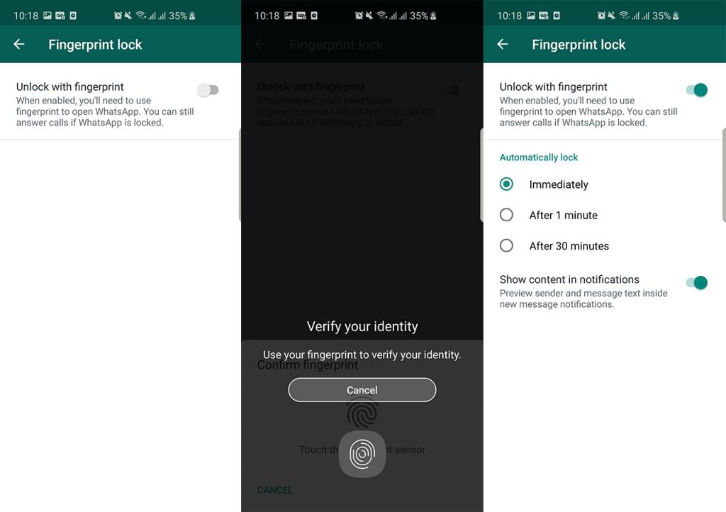 whatsapp apk fingerprint lock