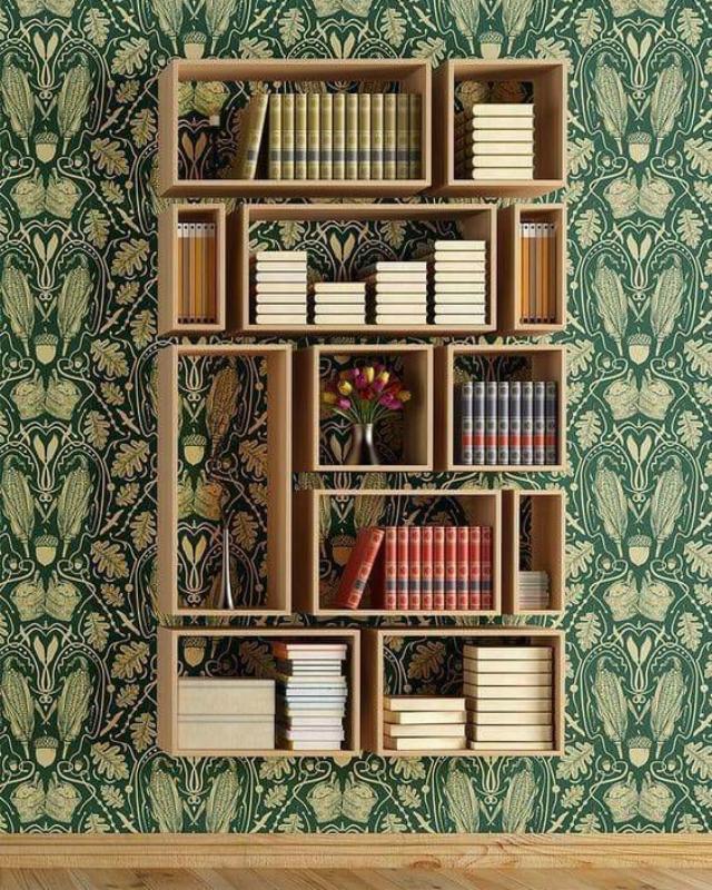Különleges fali könyvespolcok – egyedi polc ötletek 2021
